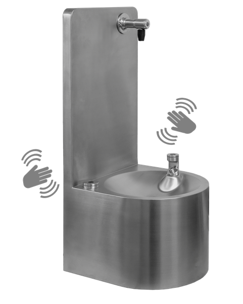 FONT 30CL Wall Mounted Drinking Water Fountain With Contactless Bubbler & Bottle Filler