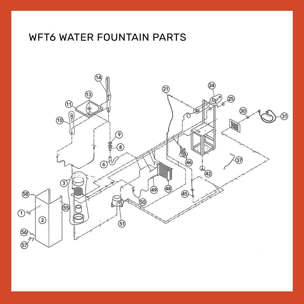 WFT6 WATER FOUNTAIN PARTS