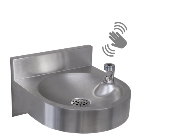 FONT10BCL Wall Mounted Drinking Water Fountain With Contactless Bubbler